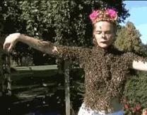 <center><b>Американка носит костюм из живых пчёл</center></b>