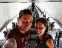 Парочка случайно оказалась в самолете для двоих
