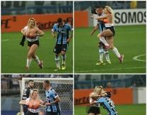 Бразильская модель прервала футбольный матч
