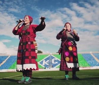 Бурановские бабушки пиарят футбол (видео)