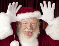 Танцующий Санта украл ноутбук (видео)