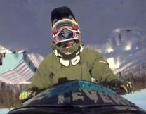 Первое в истории двойное сальто на снегоходе (видео)