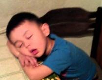 Мальчик заснул перед делегацией чиновников
