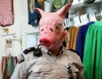 В Нью-Йорке несет службу полицейская свинья