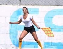 Бразильский арбитор судила матч без белья