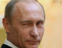 В Италии Путина нарисовали трактором
