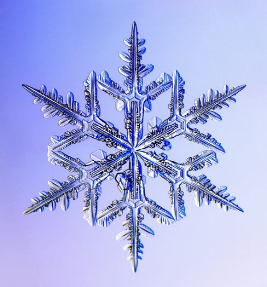 <center><b>Американский ученый создал одинаковые снежинки</center></b>