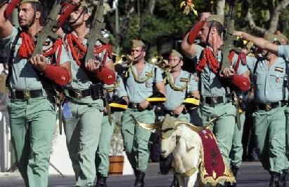 Испанские военные отправили на пенсию козла