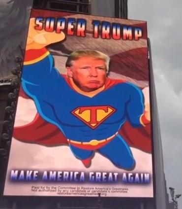 Дональд Трамп стал суперменом (видео)
