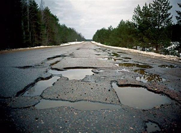 <center><b>Челябинские жители посадили картошку на дороге</center></b>
