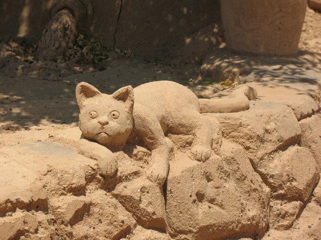<center><b>Кот из песка протестует против дорогого жилья</center></b>