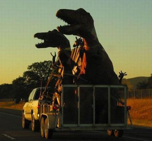 <center><b>Водителя оштрафовали за перевозку динозавра</center></b>